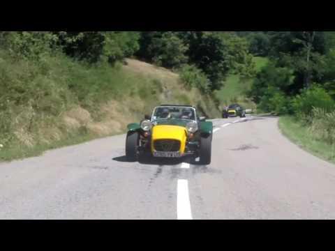 Caterham et Lotus en Ardèche avec le Club Lotus France 07/08/16