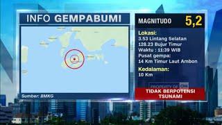 Gempa Kembali Guncang Ambon