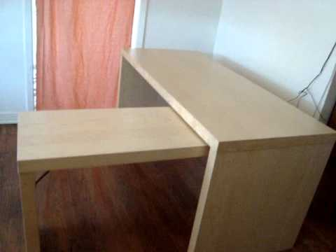 Malm Desk With Pull Out Panel Black