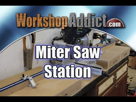 Miter Saw Station With Drawers Using Kreg Trak And Stop
