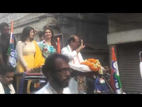 Javed khan rally with bangali film actress