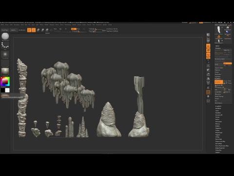 Zbrush Cave Assets w/Jon - 7/10/2017