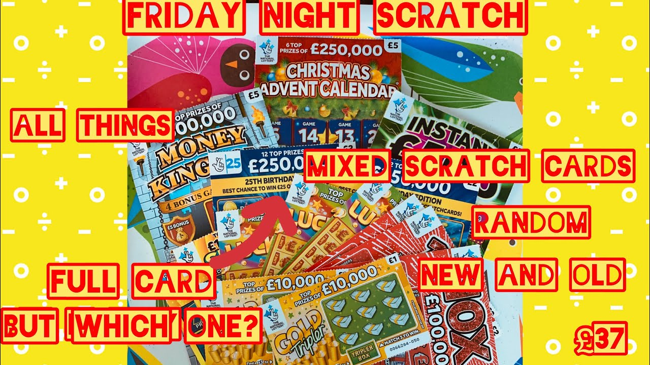 FULL CARD💰. £37 in mixed random scratch cards,new Christmas advent  calendar , instant £500,