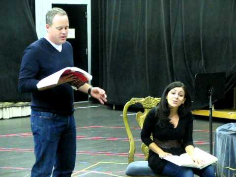 Marriage of Figaro rehearsal at the Detroit Opera House