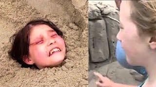 11 Yaşındaki Çocuk, Kuma Canlı Gömülmüş Küçük Kızı Buldu. Sonra Kıza Bunlar Oldu