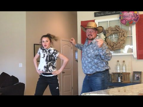 Father & Daughter doing The Carlton Dance