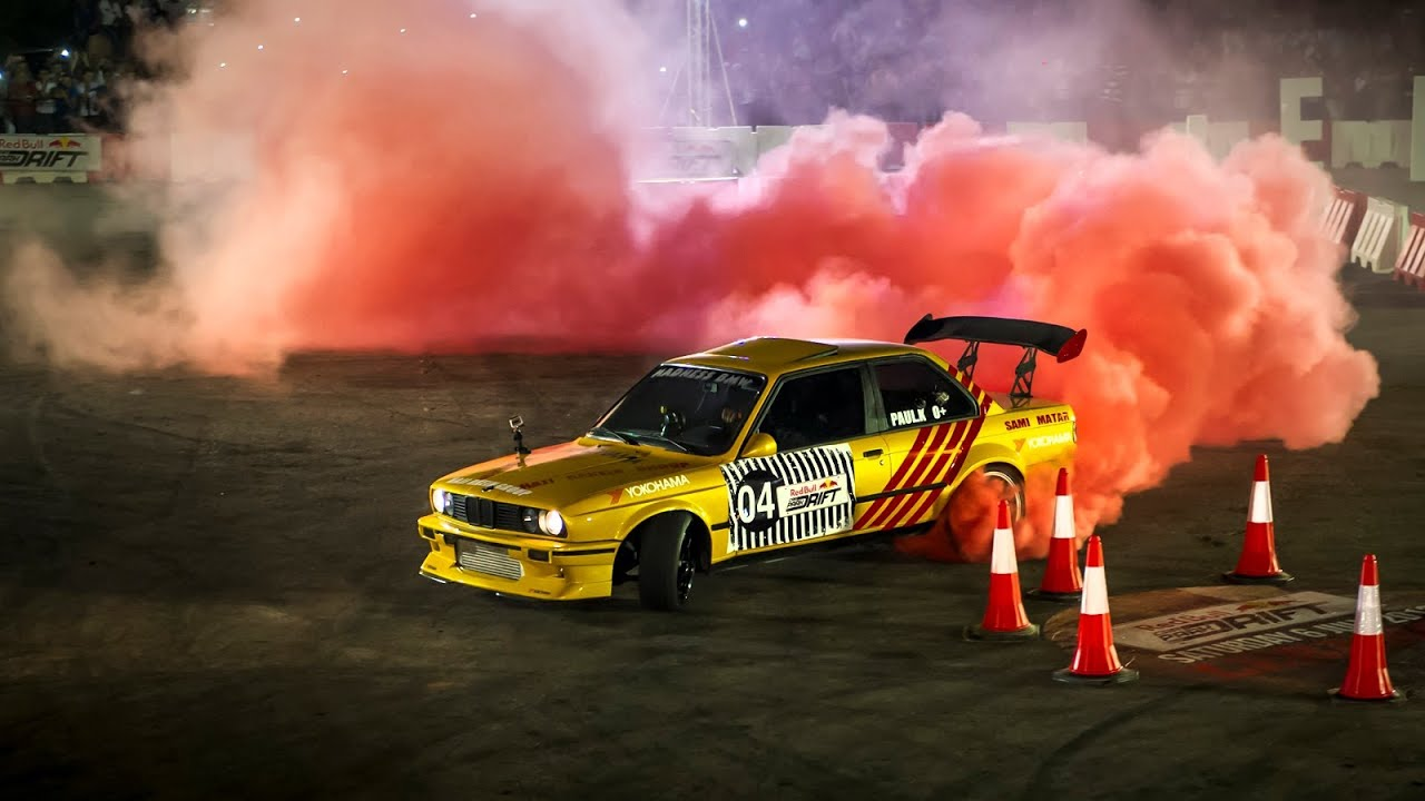 Drift Racing In Lebanon Red Bull Car Park Drift Youtube