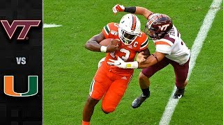 Virginia Tech vs. Miami Football Highlights (2019)