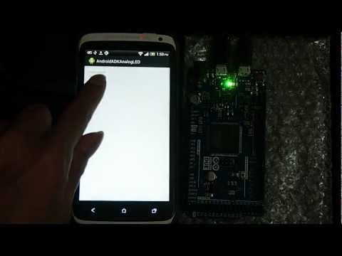 Arduino Due + Android + ADK: Change LED Brightness By Calling AnalogWrite()