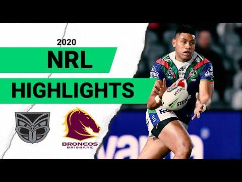 Warriors V Broncos Match Highlights   Round 8 2020   Telstra Premiership   NRL