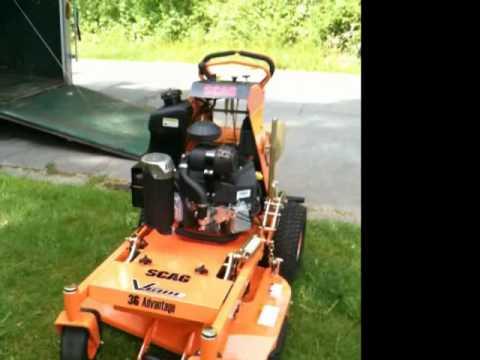 Scag V Ride Commercial Lawn Mower Youtube