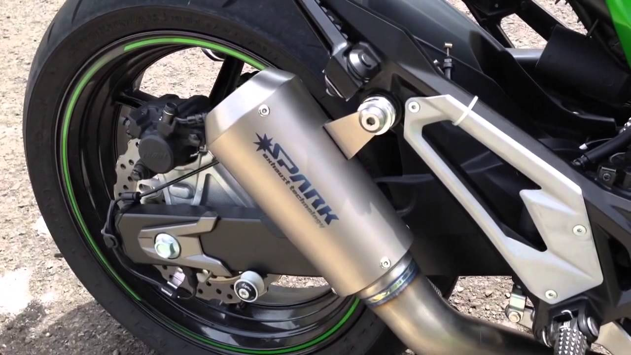 Spark Full Titanium Exhaust For Kawasaki Z800 Youtube