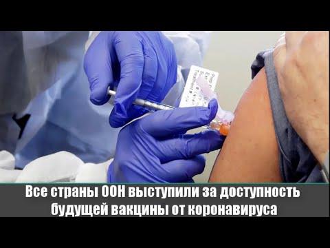 ▶️  Все страны ООН выступили за доступность будущей вакцины от коронавируса 📣 Новости России и Мира.