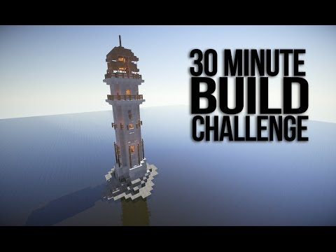 Ocean Lighthouse - Minecraft 30 Minute Build Challenge!