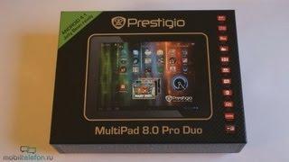 Распаковка Prestigio MultiPad 8.0 Pro Duo (unboxing): первое включение