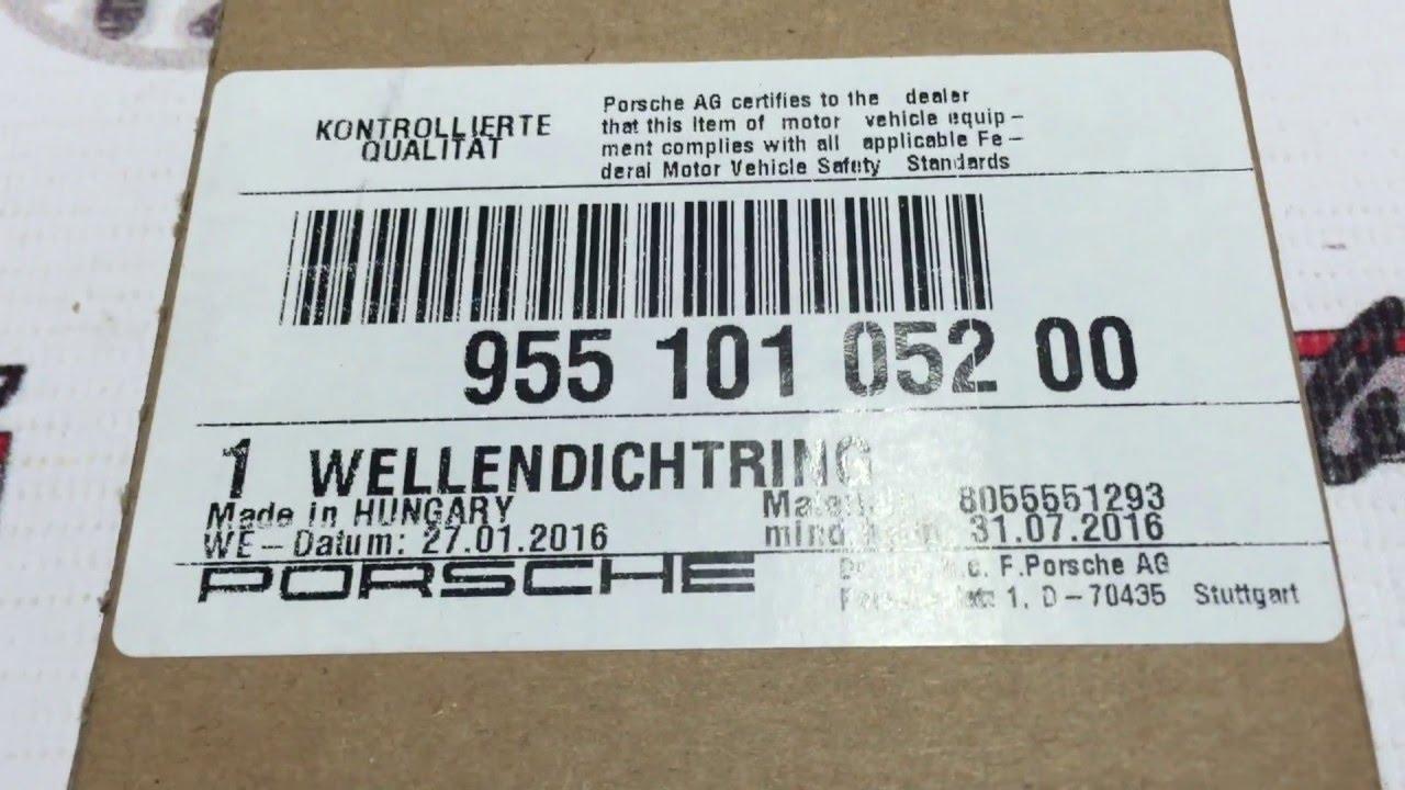 95510105200 Сальник переднего коленчатого вала Porsche Cayenne 957/958 / Panamera 970