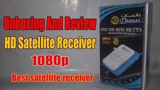 Unboxing HD satellite mini dish receiver Full HD Receiver 1080p