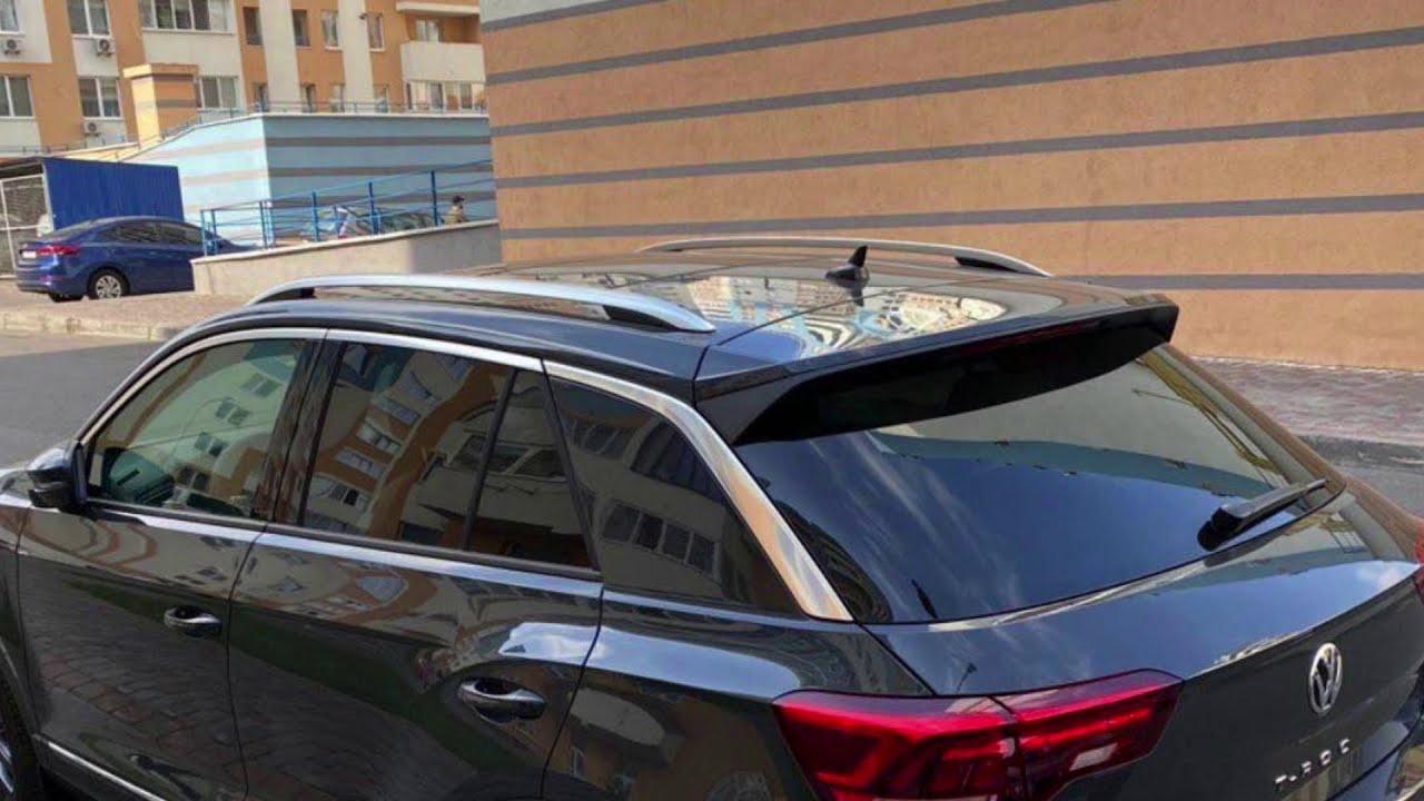Ретрофит. Ассистенты BSD/RTA, Keyless Access в зад. двери, подсветка ног.VW T Roc Sport 1.5TSI 2020.