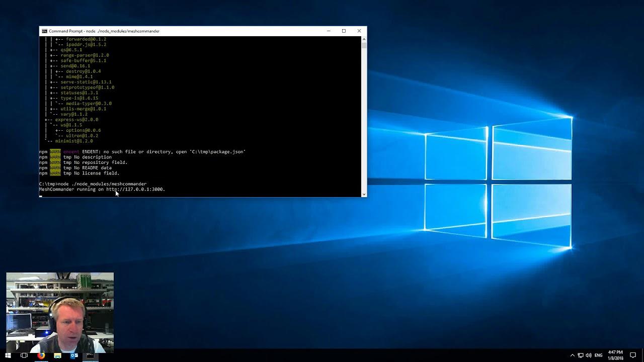 MeshCommander for NPM - Linux, OSX, Windows | Intel® Software