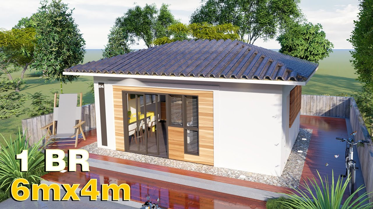 Download Small House Design 6x4 (24 SQM) Bungalow