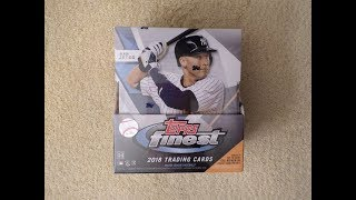 2018 Topps Finest Baseball Master Box - Two On-Card Autographs