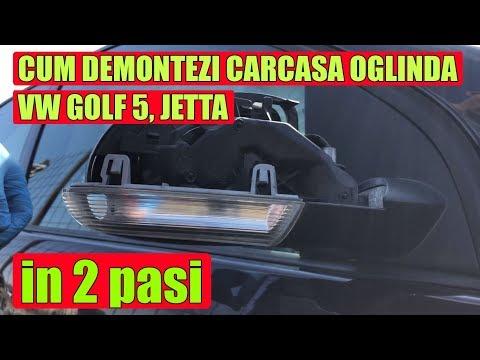 TUTORIAL: Cum Demontezi / Scoti Carcasa- Capac Oglinda VW Golf 5, Plus, Jetta In 2 Pasi