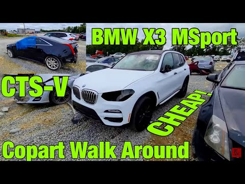 Copart Walk Around, Raleigh, CTS-V, BMW X3 MSport, Range Rover CHEAP, PRIUS WIN? BMW E34 Clean Win?