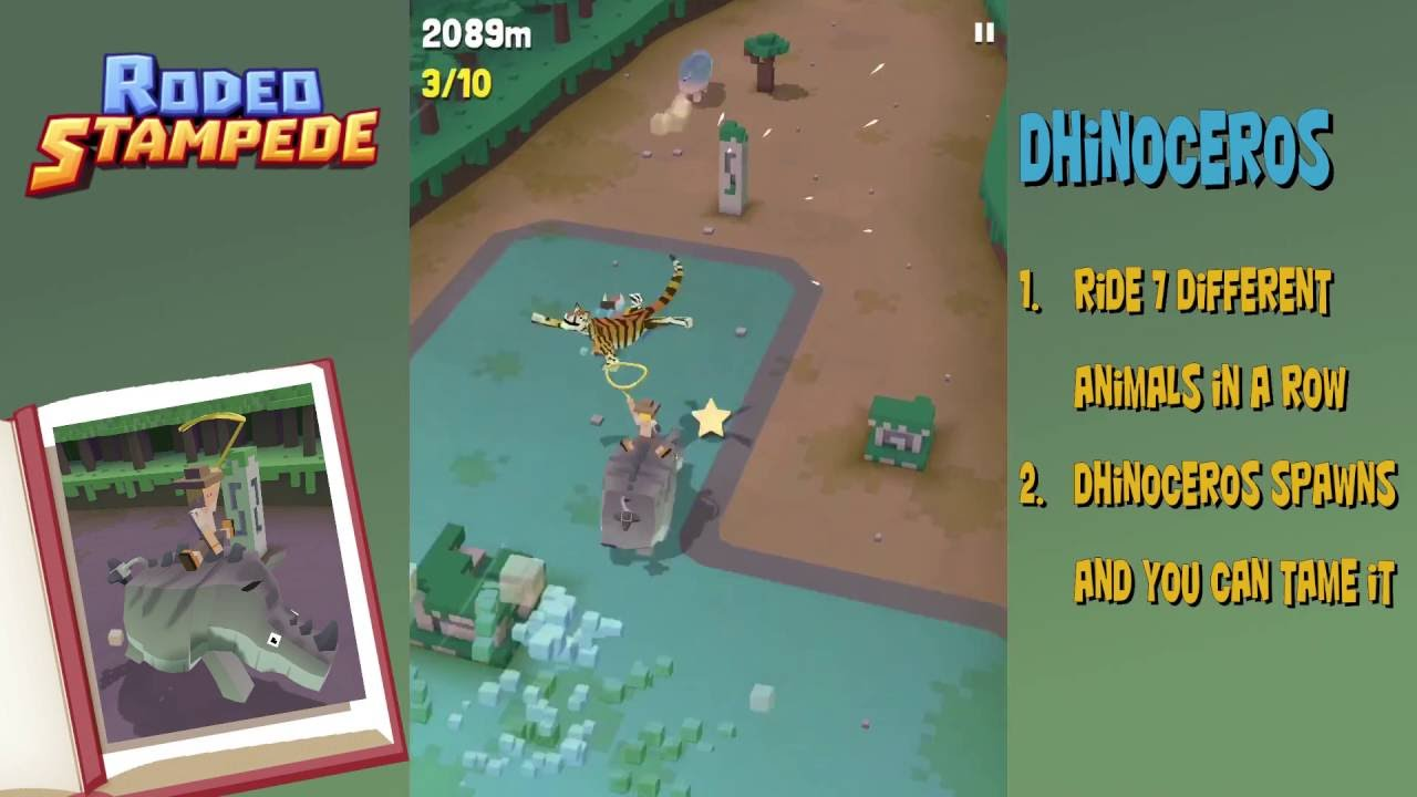 Rodeo Stampede How To Get The Dhinoceros Secret