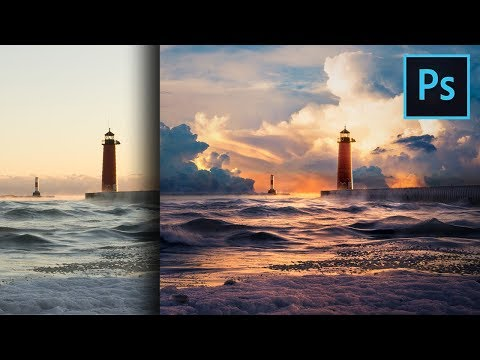 Add Clouds and Dramatic Colors to Landscapes in Photoshop