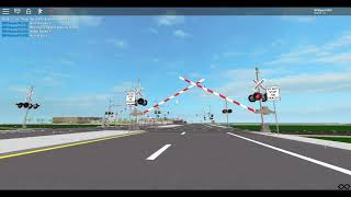 ROBLOX: Train Passes By Visger Road Railroad Crossing