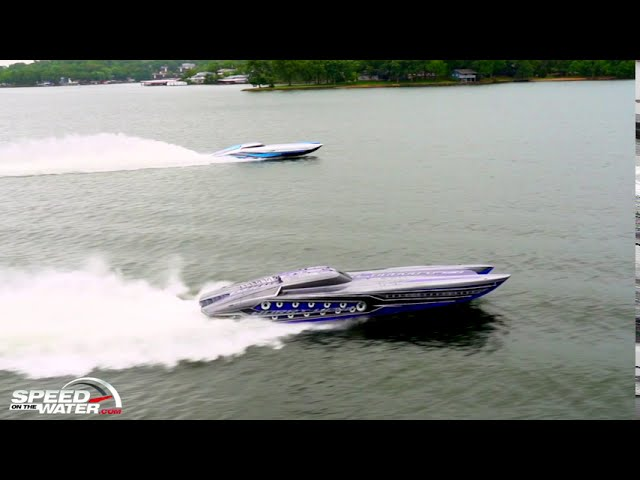 Outerlimits SC 46 Catamarans In Action On Lake of the Ozarks
