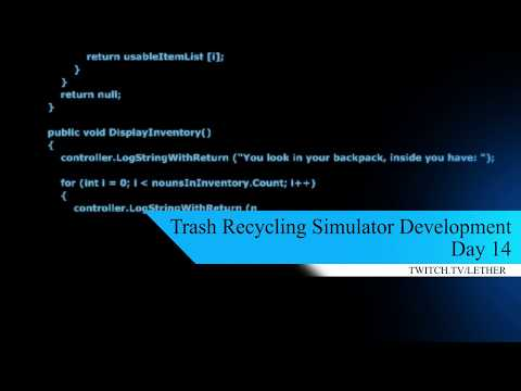 Trash Recycling Simulator Development Diary Day 14 thumbnail