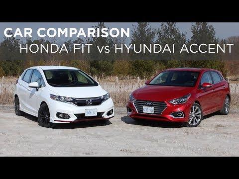 Car Comparison | Honda Fit Vs Hyundai Accent | Driving.ca
