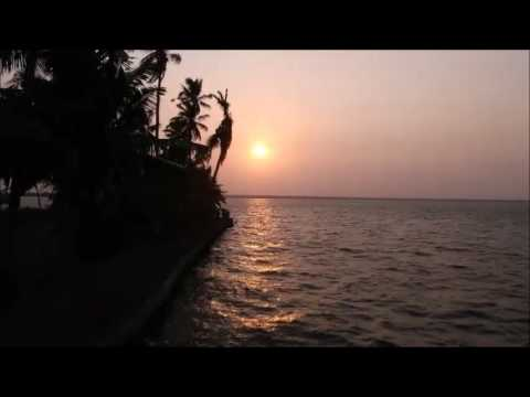 A timelapse sunset in Backwaters, Kerala, India