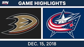 NHL Highlights | Ducks vs. Blue Jackets - Dec 15, 2018