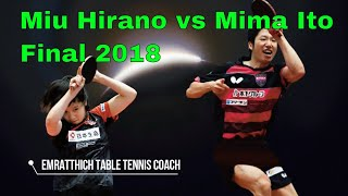 JAPAN FINAL: Miu Hirano vs Mima Ito
