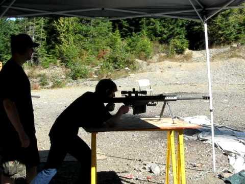 Shooting a Barrett .50 Cal Sniper Rifle