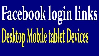 www.facebook.com login : learn how to sign in to facebook login page