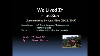 We Lived It Lesson