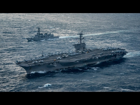 """US Navy Deployment: """"ready for war"""" North Korea vows to defend itself """"with powerful force"""""""