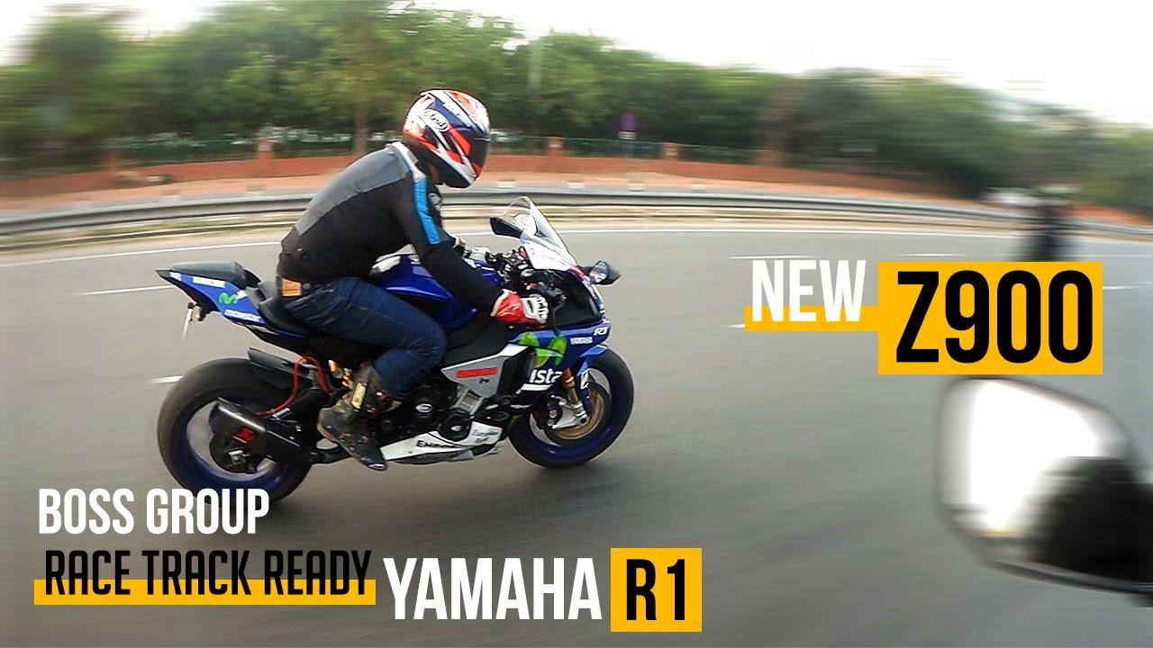 chasing yamaha r1 on kawasaki z900!! - youtube