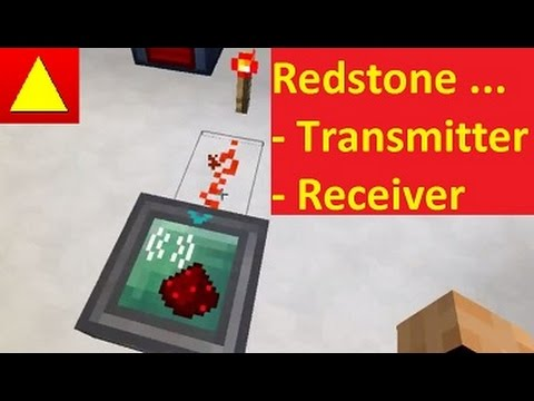 Redstone Transmitter Receiver von RFtools BlockLight Minecraft Mod
