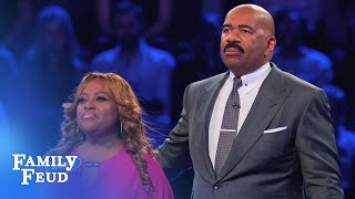 Sherri Shepherd's INSANE Fast Money! | Celebrity Family Feud
