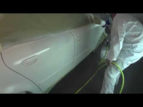 Painting Audi B6 A4 Polar White with White Pearl