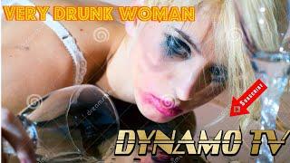 Very drunk woman