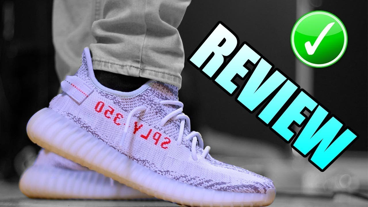 5dacb09c48d Yeezy Boost 350 V2 BLUE TINT Unboxing - Blue Tint ON FOOT Review ...
