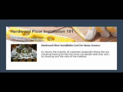 Hardwood Floor Installation Cost For Home Owners