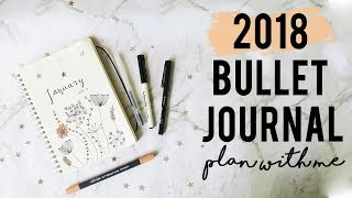 Today i am seetting up my bullet journal for the new year! 2017 is almost over to moving on plan 2018! january 2018 and theme have gone for...