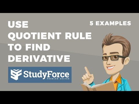 📚 How to use the quotient rule to find the derivative of a function