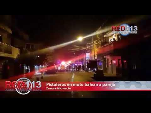 VIDEO Pistoleros en moto balean a pareja en Zamora